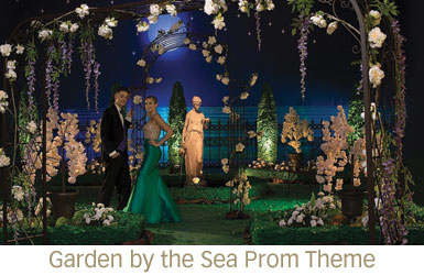 Garden by the Sea Prom Theme
