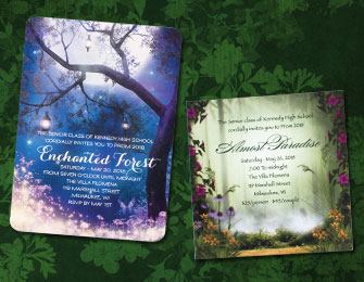 Forest and Garden Invitations