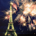 1113 - Paris Tower w/fireworks