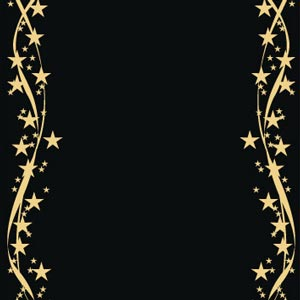 1791 - Gold stars on black