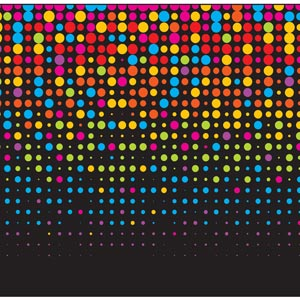 2114 - Mulit Color Neon Dots