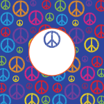 2669 - blue peace sign