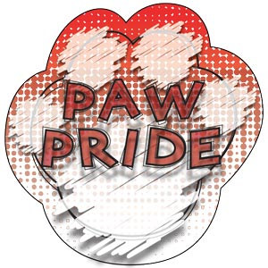 2783 - Dog Tag Red Paw Pride