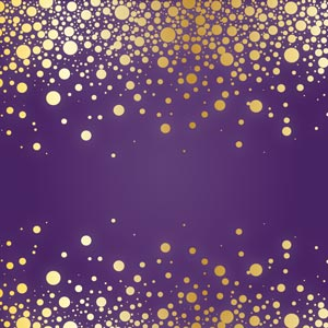 3275 - purple and gold glitter