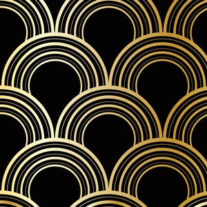 3641 - Gold Circles Graphic