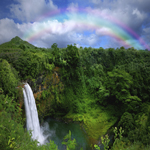 3887 - Waterfall and Rainbow Ba