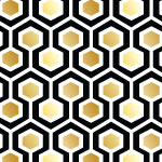 4307 - Black and Gold Geometric
