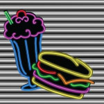 4331 - 50s neon Malt and Burger