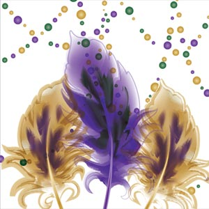 4644 - Mardi Gras Watercolor Fe
