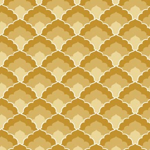 4650 - Gold Art Deco Scallops
