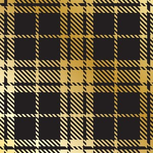 4654 - Metallic Gold Plaid