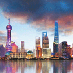 4722 - Shanghai Skyline Graphic