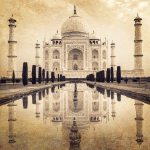 4724 - Taj Mahal Graphic Backgr