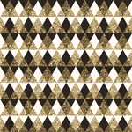 4951 - Gold Glitter Triangles