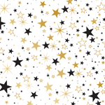 4961 - Black and Gold Stars