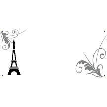 0368 - Swirls & Eiffel Tower