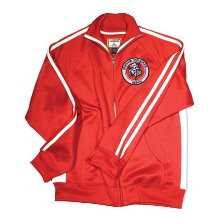 Men's Vintage Poly Fleece Embroidered Track Jacket