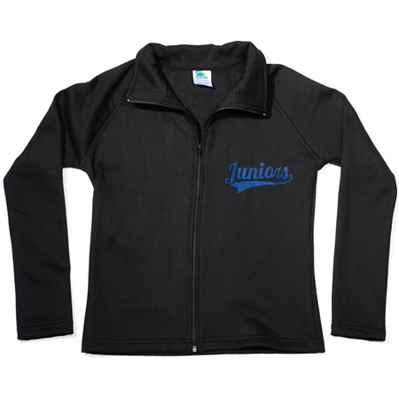 Front Zip Sweatshirt Jacket-Ladies-Applique