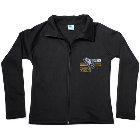 Front Zip Sweatshirt Jacket-Ladies-Embroidered