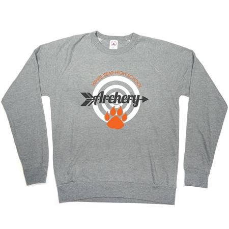 Screen Printed Long Sleeve Terry Fleece Crew