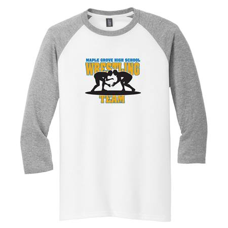 Men's Screen Printed 3/4 Sleeve Raglan Shirt - Gray