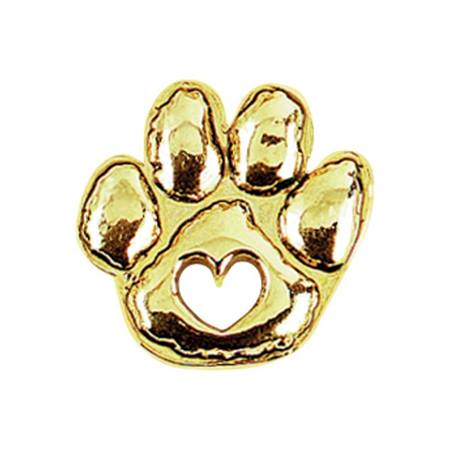 Paw Award Pin – Gold-tone Heart