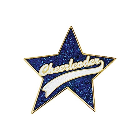 Glitter Award Pin - Star Cheerleader