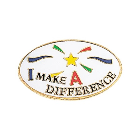 Volunteer Award Pin – I Make a Difference