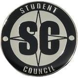 Student Council Award Pin – Black/Silver SC