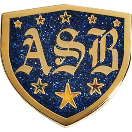 ASB Award Pin – Glitter Shield
