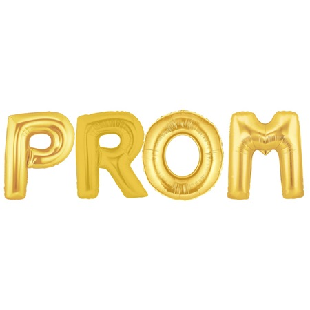 "Gold ""PROM"" Balloon Kit"