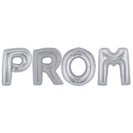 "Silver ""PROM"" Balloon Kit"