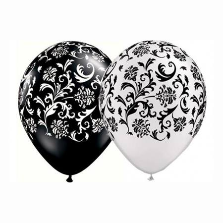 Damask Latex Balloons - 11 in