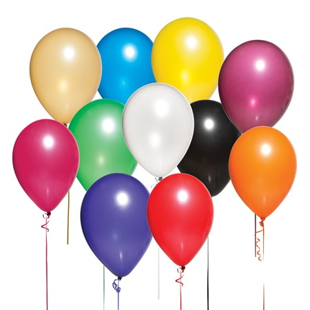 11 Inch Balloons Assorted Colors 150 package