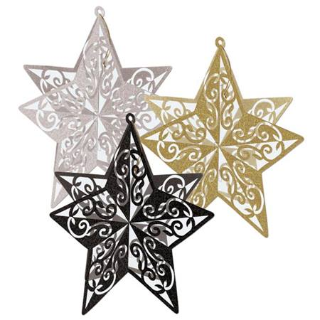 Star Filigree 3D Centerpiece