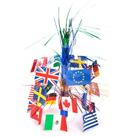 International flag centerpiece anderson 39 s for Decor products international