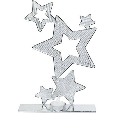 Silver Wire Stars Centerpiece (set of 2)