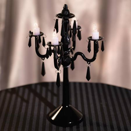 Black Chandelier Centerpiece