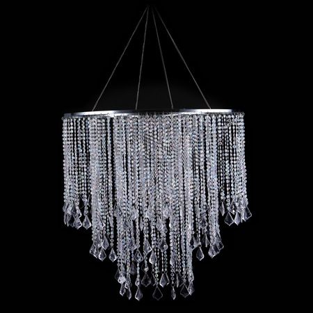 Beaded Lampshade Chandelier