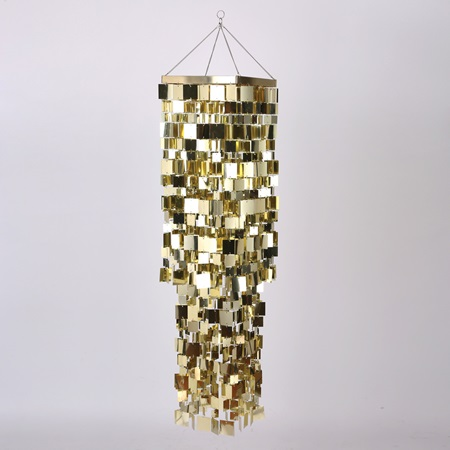 Gold Tile Chandelier