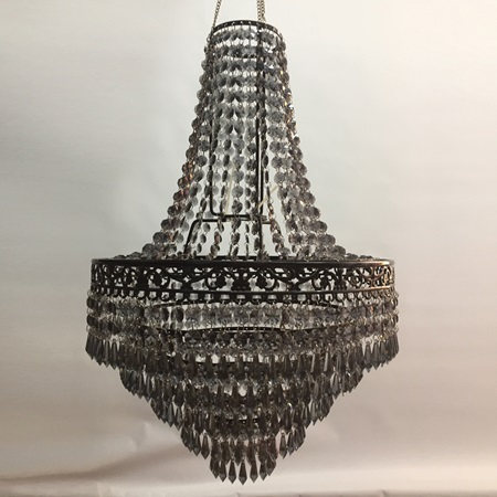 Black Acrylic Lampshade Chandelier