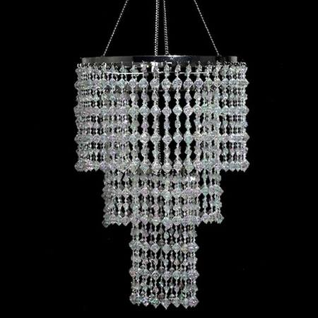 3-Tier Crystal Gems Chandelier