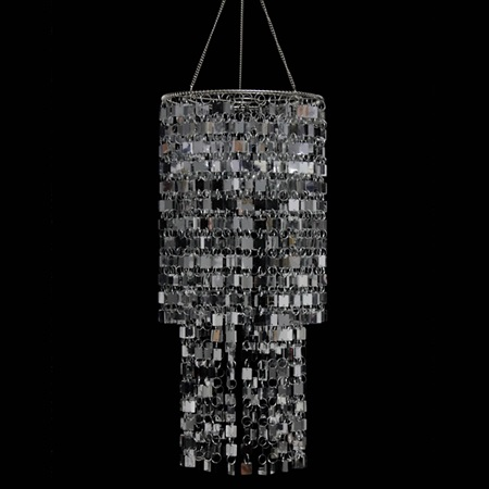 Mirrored Two-Tier Chandelier