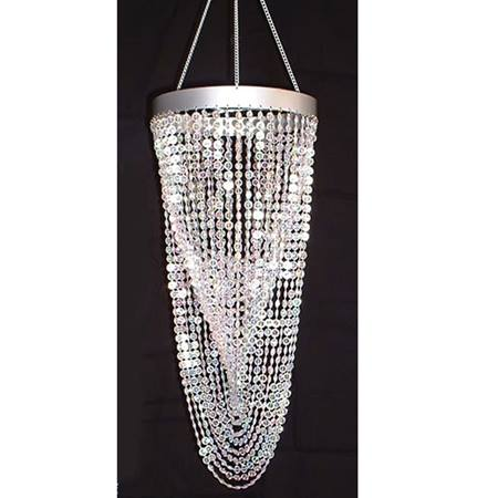 Twisting Crystals Chandelier - Clear