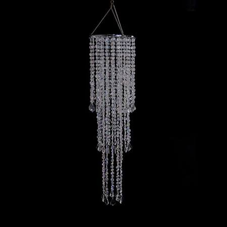 Crystal 3-Tier Beaded Chandelier