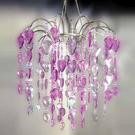 8-Arm Teardrop Chandelier - Purple