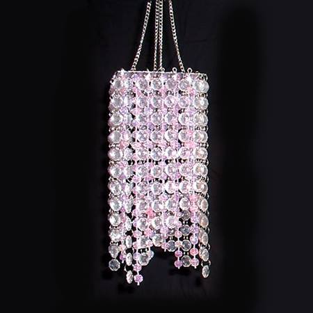Square Stringed Chandelier - Pink