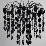 Black Retro Bead Chandelier