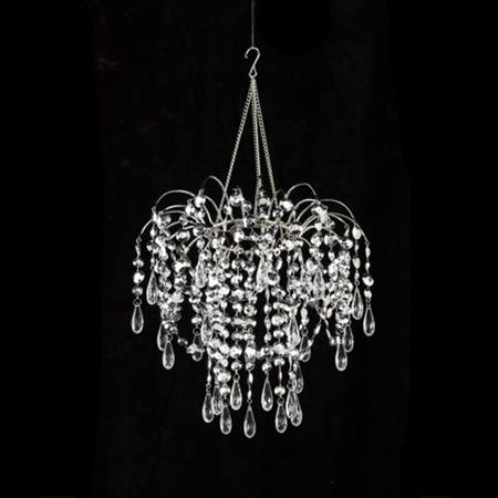 Silver Drops Valance Chandelier