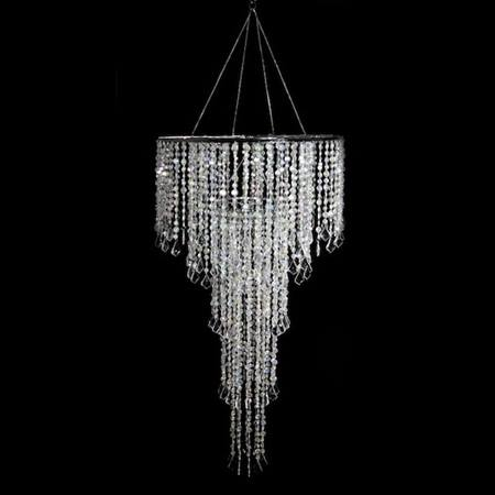 Opulent Combo Chandelier - Clear Beads